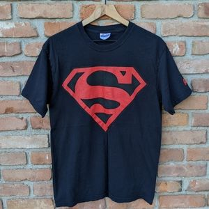 Black Superman logo t-shirt
